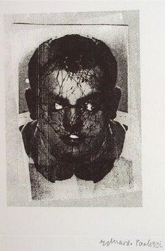 Head, self portrait, etching 6/20, dated 1996 by Sir Eduardo Paolozzi