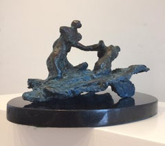 Swimmers, Unique bronze by Ivor Abrahams, exhibited Royal Academy 2004, No. 1244