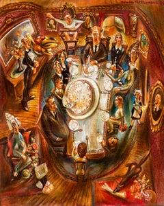 "Howard Taft Lorenz Painting, "" Happy Birthday Gramma"" 1939, Oil on Canvas"