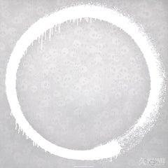 Agama (Silver Enso) by Takashi Murakami