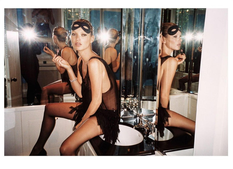 An iconic work capturing the glamorous Kate Moss in London, 2006. Digitally produced chromogenic c-type print on Fujiflex Crystal Archive Supergloss paper with a border