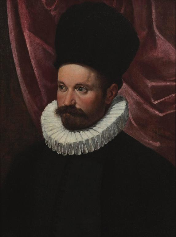 Portrait of a Gentleman - Painting by Ippolito Scarsella (Scarsellino)