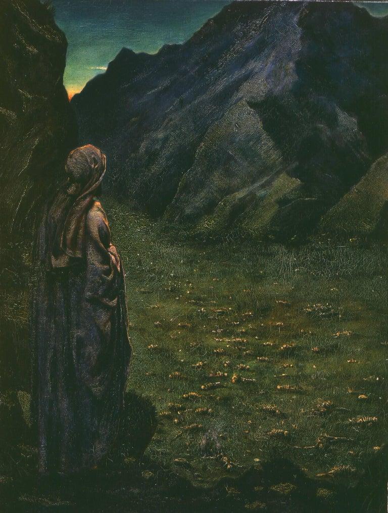 Burne-Jones, Philip Landscape Painting - Ezekiel in the Valley of Dry Bones