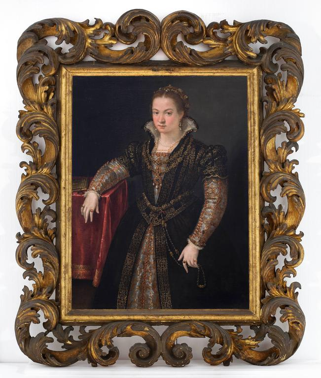 Lavinia Fontana Portrait Painting - Portrait of a Lady of the Gonzaga or Sanvitale Family