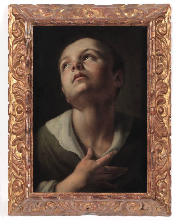 Unknown Portrait Painting - Head of a Youth