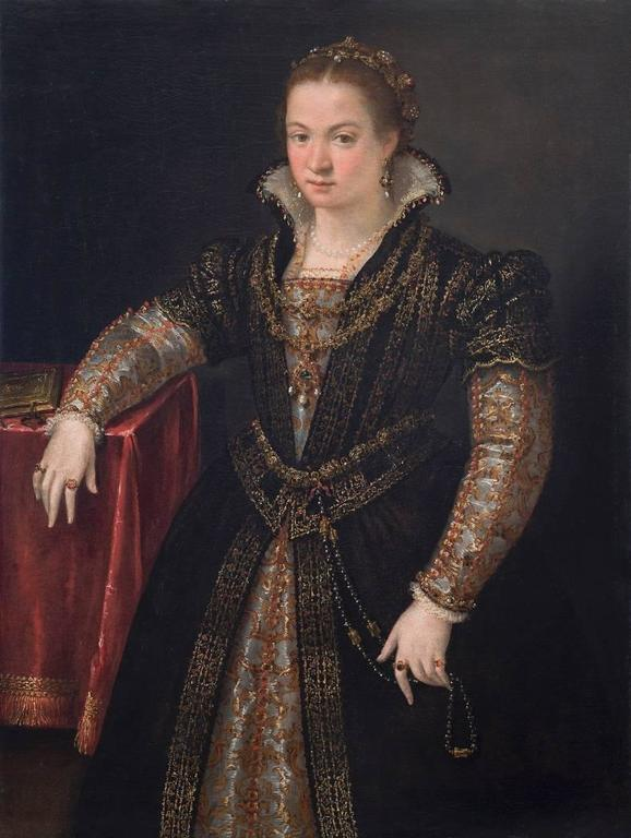Portrait of a Lady of the Gonzaga or Sanvitale Family - Painting by Lavinia Fontana