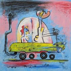 """Analogias"", Luis Rodriguez Noa, Cuban Surrealism, Mixed Media on Canvas 2018"