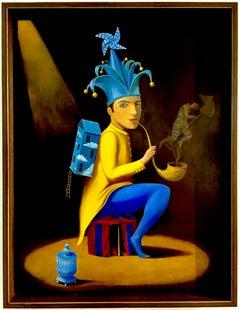"""VIsionary"" Anthony Ardavin, Cuban Art, Surrealism, Oil on Wood Panel, 2017"