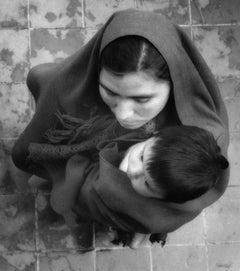 Untitled, Mexico. C. 1960-70s. (description, woman with child in serape)