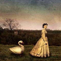 "Maggie Taylor, Woman with Swan, 2002, 15 x 15"", edition of 15"