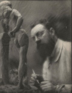 "Edward Steichen. Henri Matisse with ""La Serpentina,"" Issy-les-Moulineaux, France"