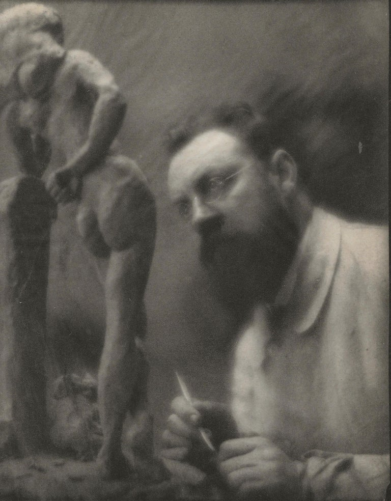 "Edward Steichen. Henri Matisse with ""La Serpentina,"" Issy-les-Moulineaux, France"