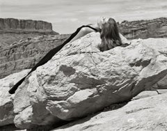 Kurt Markus, Louise, Flair Magazine, Moab, Utah, 2004, framed print.