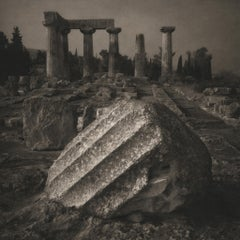 Keith Taylor, Fallen Column, Temple of Apollo, 2011, platinum palladium print