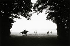 Norman Mauskopf, Chantilly, France 1987, (horses in countryside)
