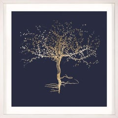 Natural Wonder 1, Gold Leaf, square, framed