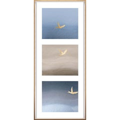 Birds of Flight, No. 1, gold leaf, framed