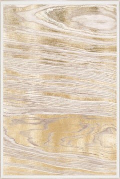 Gold Wood Grain 1, Gold Leaf, Unframed