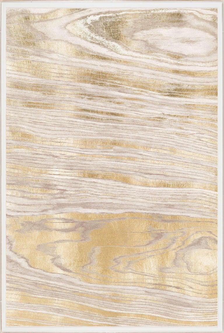 Gold Wood Grain 1, Gold Leaf, Unframed