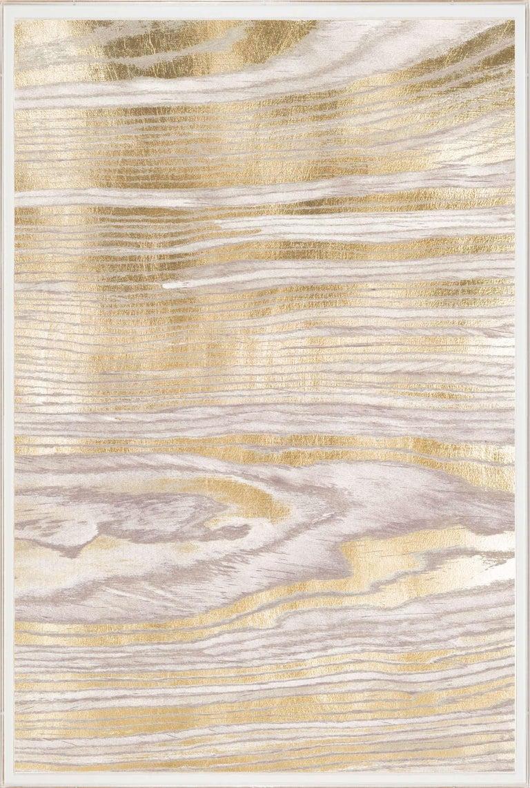Gold Wood Grain 2, Gold Leaf, Unframed