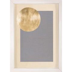 Morning Glory, Grey, Gold Leaf, Framed