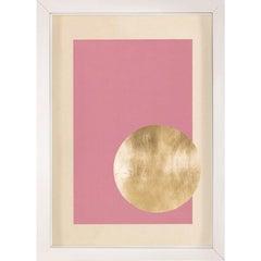 Morning Glory, Pink 2, Gold Leaf, Framed