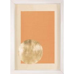 Morning Glory, Orange 1, Gold Leaf, Framed