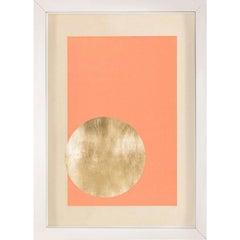 Morning Glory, Orange 2, Gold Leaf, Framed