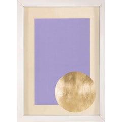 Morning Glory, Purple, Gold Leaf, Framed
