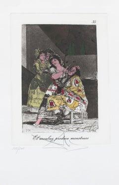 Salvador Dali , El arcabuz produce monstruos, Goya