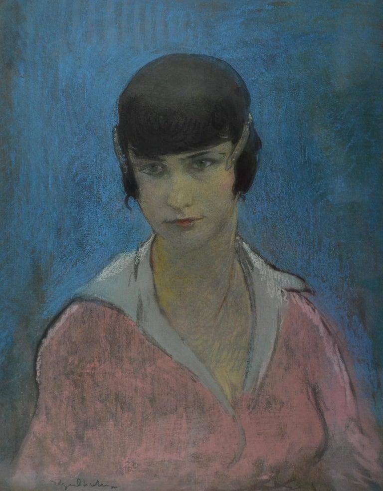 Nana, early 20th Century Armenian/French Pastel Portrait