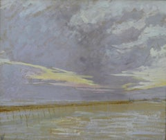 Low Tide, early 20th Century oil on paper