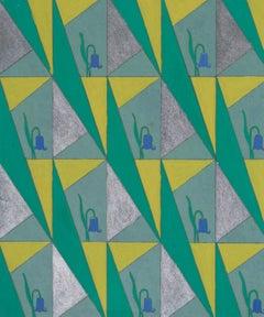 Marie Palmer-Smith - Bluebell - original Art Deco design for paper