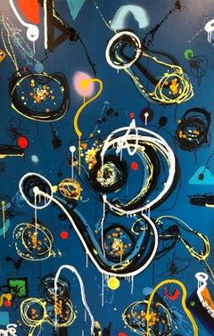 JP JONES- It's Alright Ma by Bob Dylan - 180 X 120 cm -  Acrylic - Sound Pattern