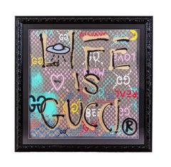 GUCCI - Life is Gucci - Logo - graffiti art - street art - gucci logo