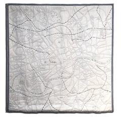 Embroidered Map of London Wall Hanging (custom made)