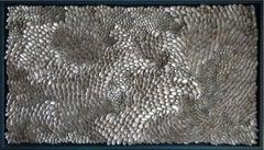 Silver Ocean - light reflecting wall mounted shell artwork