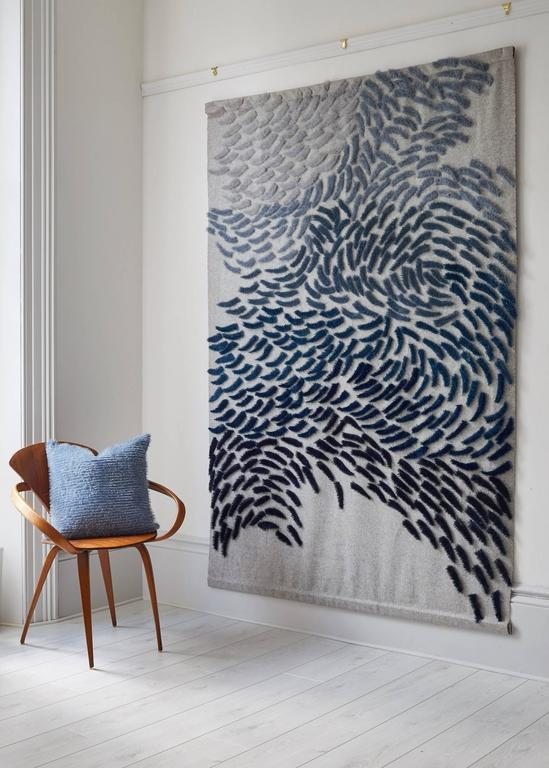 The hanging illustrated has sold but is presented on 1stdibs as the artist maker works murmuration large scale textile wall
