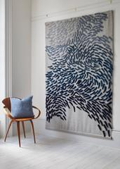 Murmuration - large scale textile wall hanging by Anna Gravelle