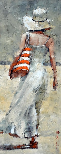 """Andre Kohn. """"The Day Off. Series #23"""". Figurative Impressionist Oil on canvas."""