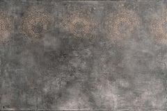 """Svetlana Shalygina """"The Marks of Existence, series #17"""". Mixed media abstract."""