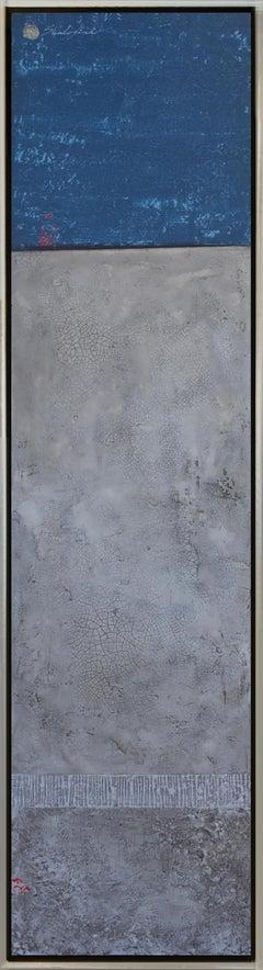 """""""Fifty Shades of Blue"""" series #4. Svetlana Shalygina. Mixed media on canvas."""