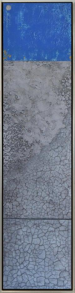 """""""Fifty Shades of Blue"""" series #5. Svetlana Shalygina. Mixed media on canvas."""