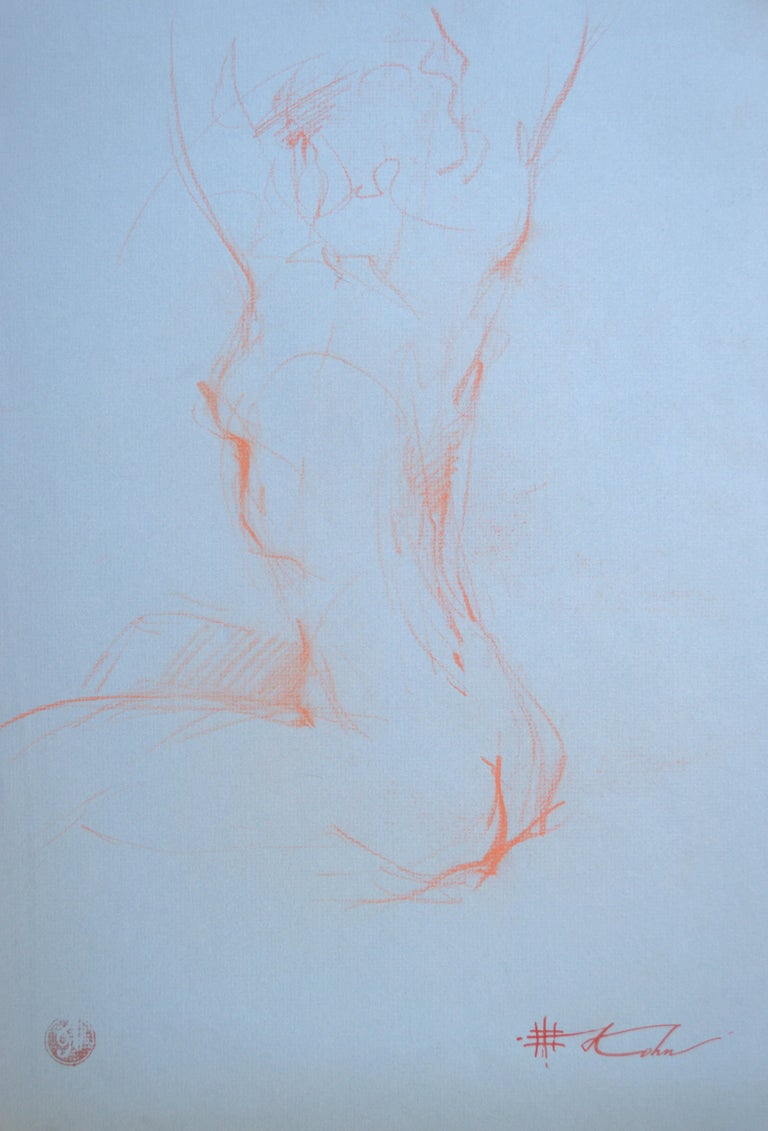 "Andre Kohn. ""Nude Study"" Pencil nude drawing from the artists private collection - Art by Andre Kohn"