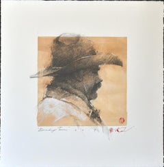 "Andre Kohn. ""Brandin' Team"" Original Western pencil drawing."