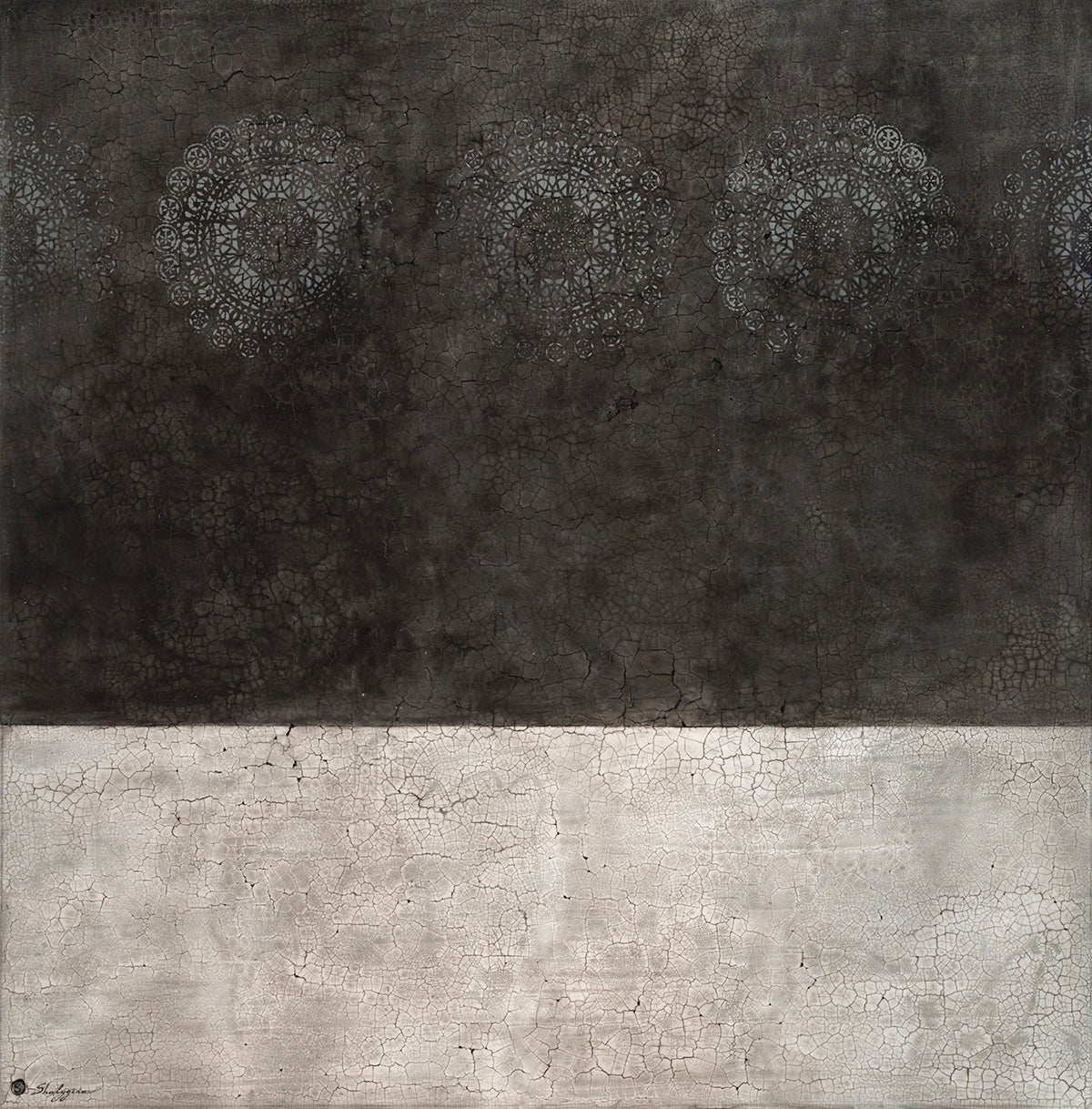 Minimalist Black White Extra Large Painting Modern Contemporary Abstract 72x72