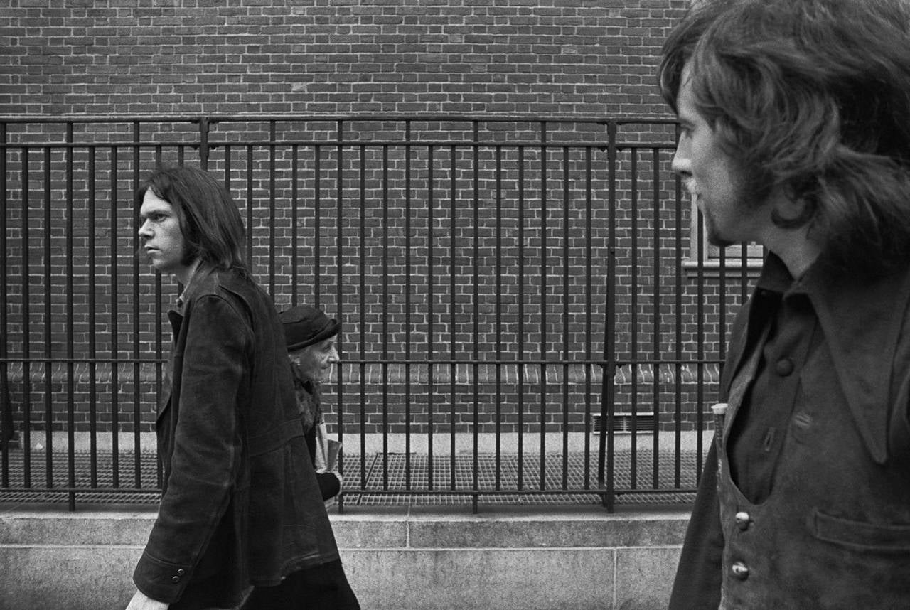Joel Bernstein Neil Young And Graham Nash New York City