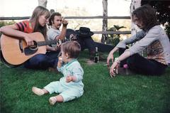 Joni Mitchell, David Crosby, and Eric Clapton, Lauren Canyon 1968