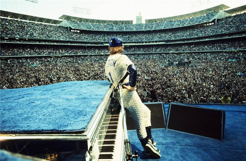 Terry O Neill Elton John Dodgers Stadium Los Angeles