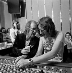 Elton John and Gus Dudgeon in the Studio